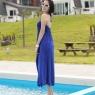 PRE-ORDER *V Neck Backless Long Dress*